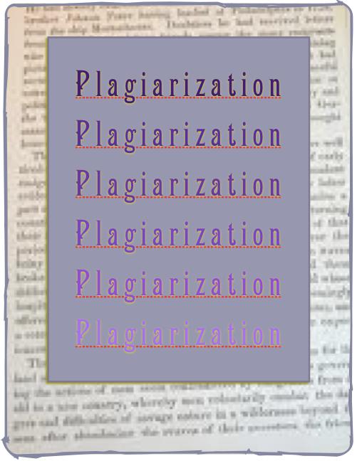 A plagiarist just fades away...