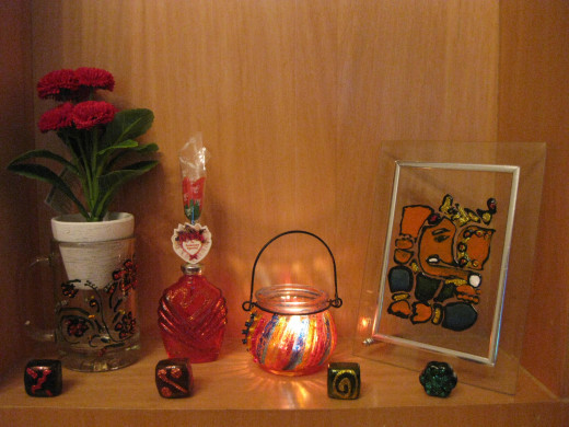 My glass-painted objects