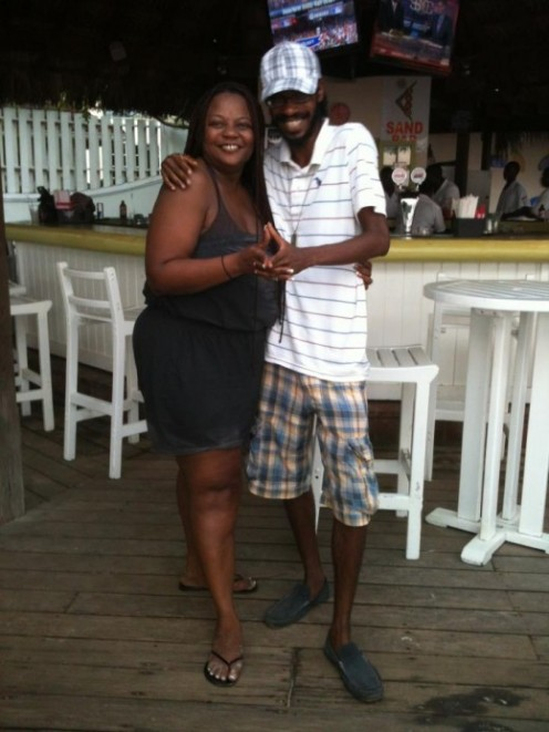 Rastermermaid and I jamming at Doctors Cave Beach in Montego Bay.