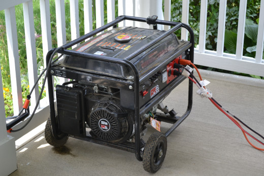 Keep the generator away from the house, well ventilated, grounded, and locked