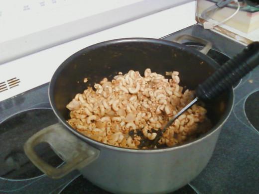 homemade pasta dinner