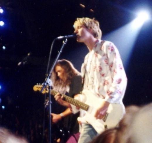 Nirvana at the MTV music awards