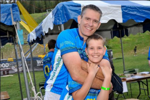 Kohl and Randy Benjamin -- fighting cancer and raising money by bike riding in the Courage Classic.