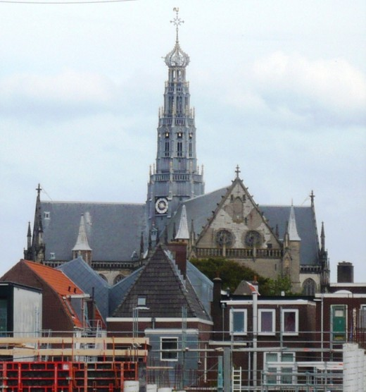 View of Sint Bavokerk, Haarlem, from the west.