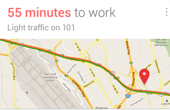 Google Now - Traffic Card