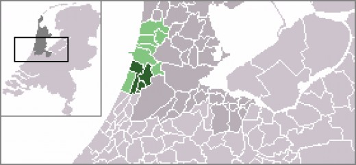 Map location of Haarlem, and district