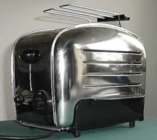 A streamlined toaster