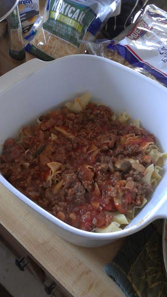 Meat sauce next