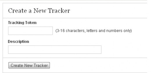 Write your desired tracker name and put a short description.