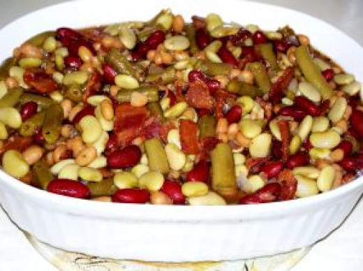Calico Beans Made with Green Beans