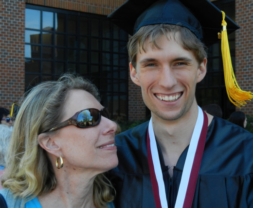 My brother's College Graduation. An instance where success clearly brought happiness on that day.