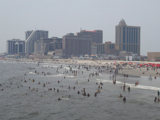 Atlantic City was fun... and hot.  Really, really, really hot.