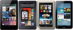 7-inch Budget Tablets: Nexus 7 vs Kindle Fire vs Nook Tablet vs Samsung Galaxy Tab 2 7.0 (Specs, Performance, Features)