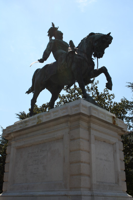 Statue of Vittorio Emanuele II, first King of Italy after unification
