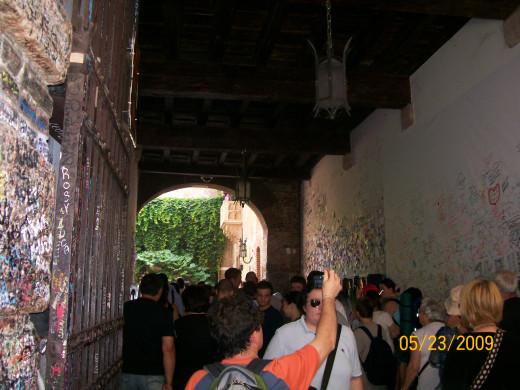Walking in to see Juliet's balcony