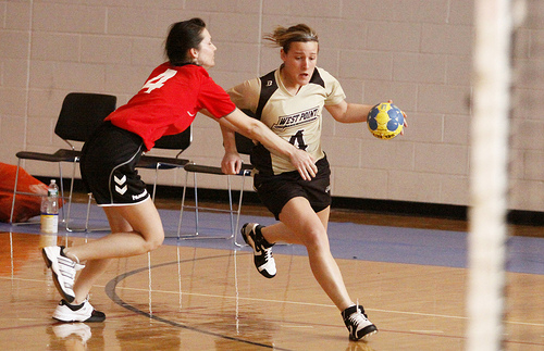 Team handball is a competitive and fast-moving game.
