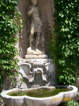 One of the many fountains inside the gardens