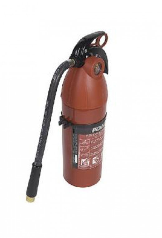 Having fire extinguishers around can save your property AND your life.
