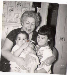 Nana with me and my sister