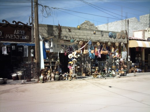 A typical shop along the dusty souvenir road.