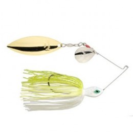 Strike King spinnerbait with one Colorado and one Willow style blade