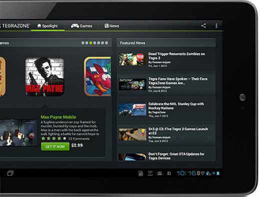 Nexus 7 App Screen