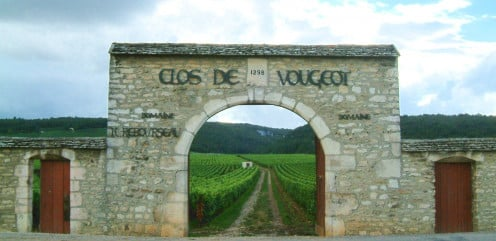Gate to the Clos de Vougeot Vinyards