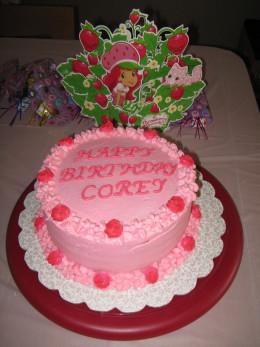 Strawberry Shortcake Cake & Centerpiece