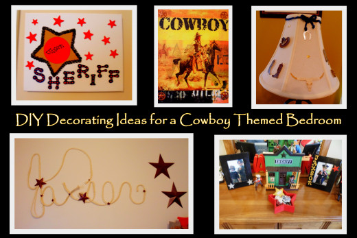 Fun western decorating ideas for a cowboy bedroom.