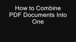 How to Combine PDF Documents Into One