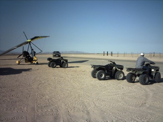 Hang Gliders and ATVs for rent.