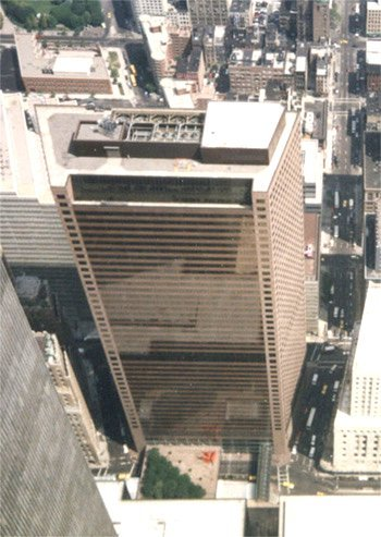 The original building 7 of the World Trade Center, taken August 14, 1992.