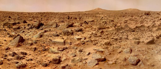 Little Pathfinder didn't have much time to explore the surface in 1996, but it did snap this photo of a rugged Martian landscape.
