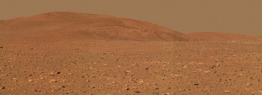 "The ""Columbia Hills."" Yes, Mars is a bleak and barren place."