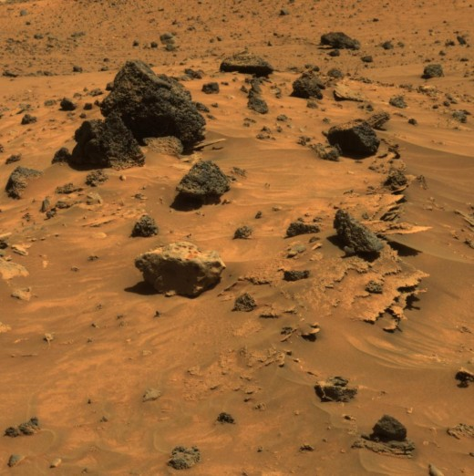Typical Martian rocks. They don't look like much now, but Mars was once a water world. Microbial life has not yet been ruled out.