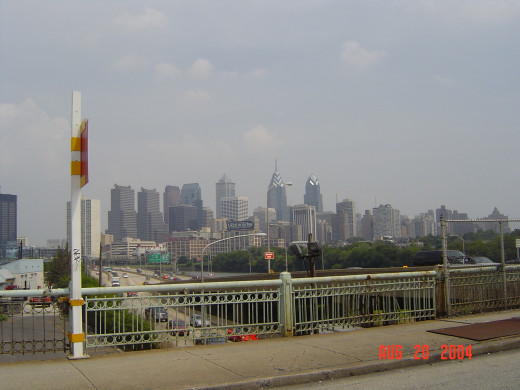 Philly buildings - picture taken as were passing the city and you can see the Comcast building.