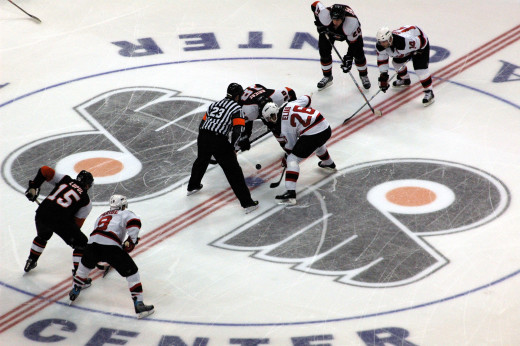 Flyers professional Ice Hockey home game