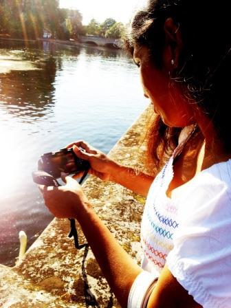 With my camera, my friend!!!