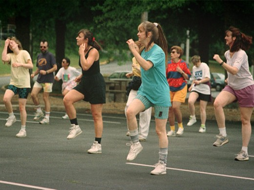 Get moving with an aerobics class.
