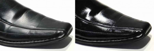 Polished SKUFF is the glossy finish version of SKUFF.  When applied, it forms a glossy protective coating that both shines shoes and protects from scuff marks.  Best part: it can last for years, so you don't have to keep shining your shoes weekly.