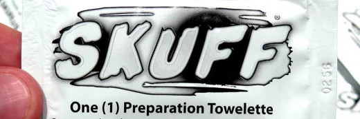 SKUFF preparation towelettes are used for cleaning shoes and leather accessories before applying SKUFF.  They can also be used during application as a wipe to apply SKUFF to large items.  SKUFF towelettes can also dissolve old SKUFF when reapplying.