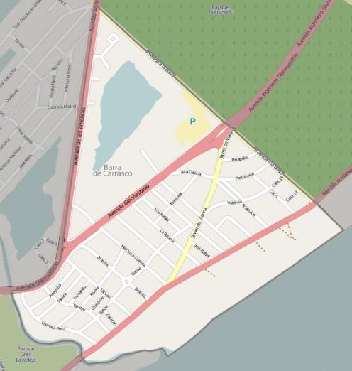 Map location of Barra de Carrasco, Ciudad de la Costa