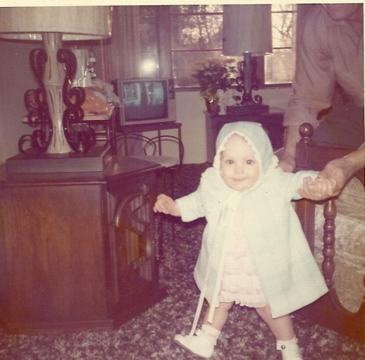 Holding Daddy's Hand - Easter 1973