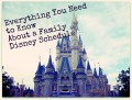Disney Schedule- What You Need to Know about Planning Your Days at Disney
