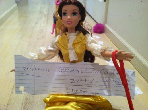 The Grand Marshall of The Princess Pony Parade!