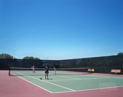 Kids Playing Tennis