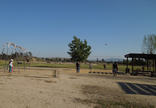 Kids Playing Valley Ball at Lake Cunningham Park
