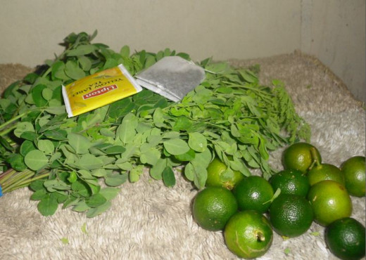 Ingredients for Malunggay Tea