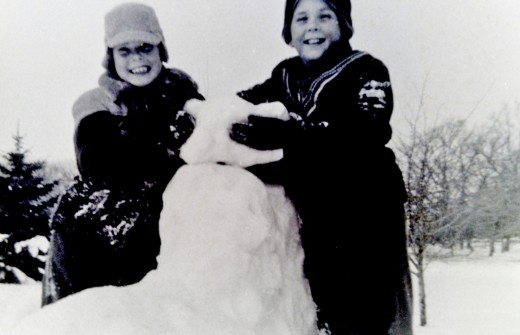 My brothers in the snowy Wisconsin winters when they were children.