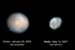 Dawn, the NASA spacecraft, is orbiting Vesta and will approach Ceres in 2015